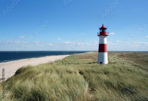 Poster Noordzee Leuchtturm auf Sylt