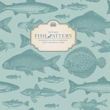 Retro Fish Pattern (background...