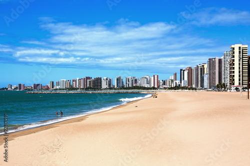 Poster de jardin Brésil Fortaleza waterfront