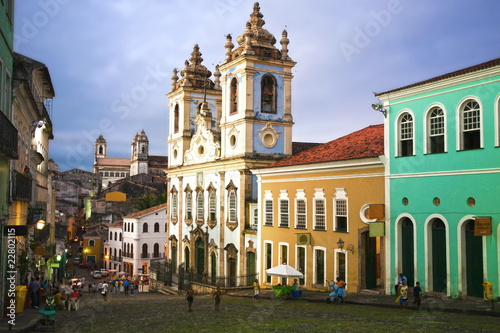 Canvas Prints Brazil rosario dos pretos church in salvador of bahia
