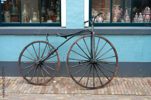 Photo Stands Bicycle old 19th century bicycle