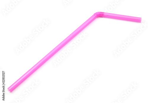 Photo Pink Bendy Straw