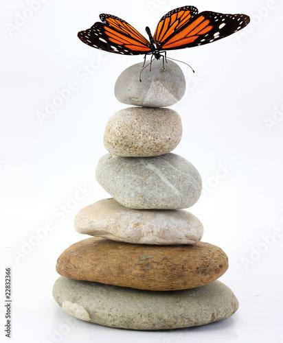 Deurstickers Stenen in het Zand zen