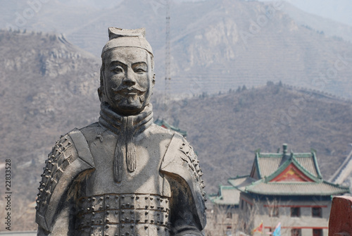 famous ancient soldiers on Great Wall(China)