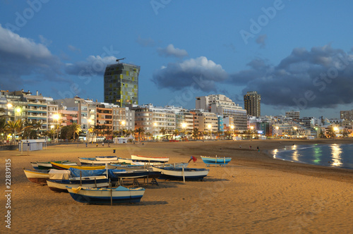 Beach in Las Palmas de Gran Canaria, Spain