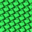 Leinwanddruck Bild - 3d Green houses