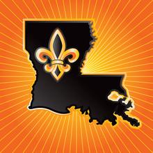 Louisiana State Orange Starburst