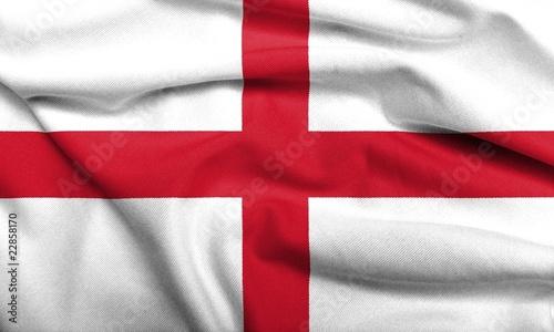 Tableau sur Toile 3D Flag of England satin