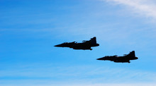 Two Aircraft Jas 39 Gripen On ...