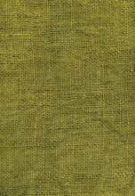 Olive Green Jute Canvas Texture, Close Up