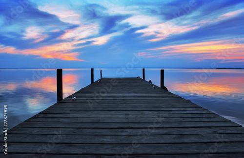 Tuinposter Pier embarcadero de madera
