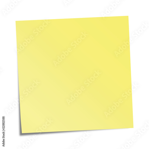 Obraz Yellow sticky note - vector illustration - fototapety do salonu