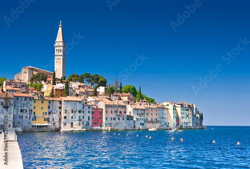 Rovinj old town in Croatia, Adriatic coast, HDR image