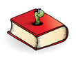 canvas print picture - Bookworm