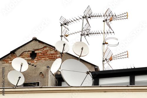 Fotografía  Antennas on roof