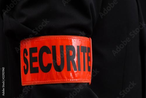 Photo  agent de sécurité brassard