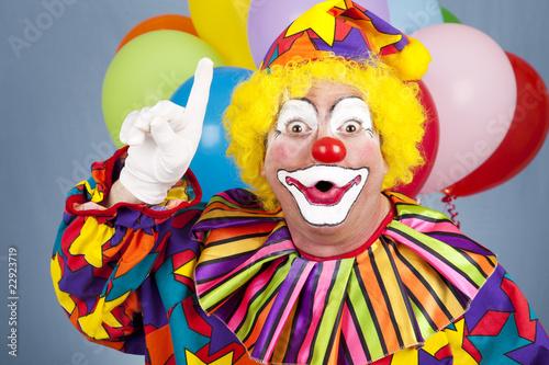 Clown With Idea Fototapeta