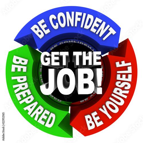 Fotografie, Obraz  Get the Job - Arrows Diagram
