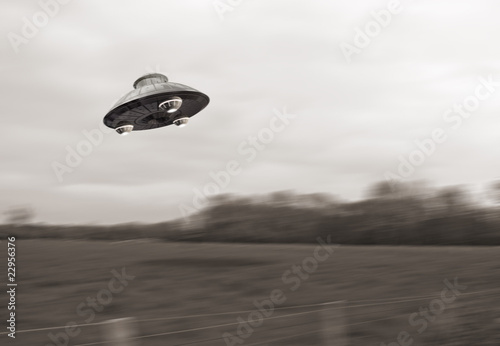 Foto op Canvas UFO Ufo Fake 1