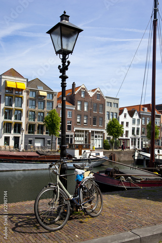Photo  bicycles in an dutch city