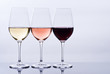 canvas print picture Wine Glasses Filled with Colorful Wine