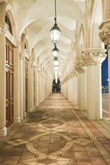 Fototapeta corridor, italian building style