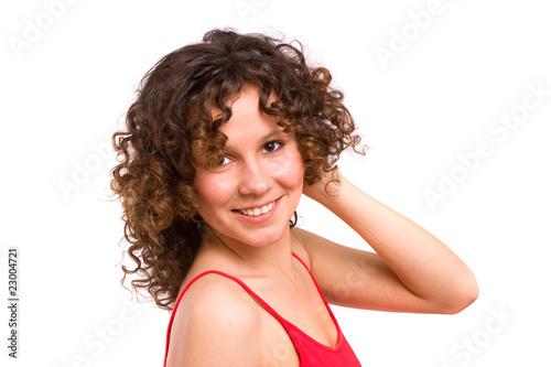 Fényképezés Portrait of beautiful young woman