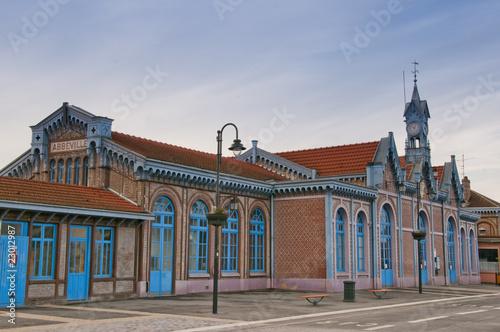 Aluminium Prints Train Station La gare d'Abbeville