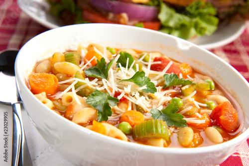 Fotografie, Obraz  Minestrone soup