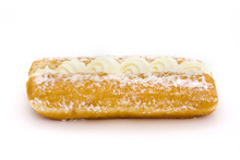 Cream Cake Over White