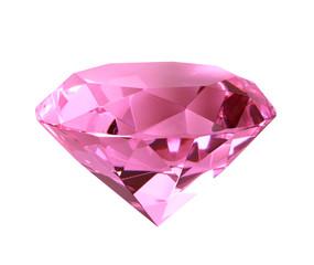 Singe pink crystal diamond