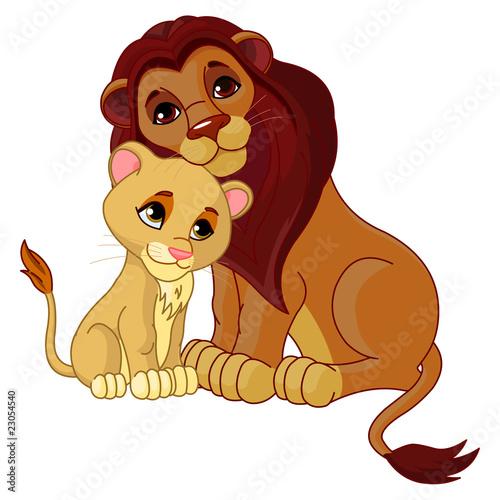lew-z-mlodym-lwiatkiem