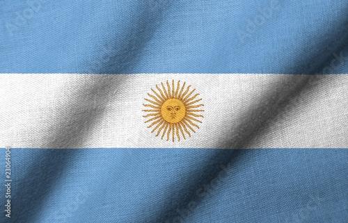 Fotografie, Tablou  3D Flag of Argentina waving
