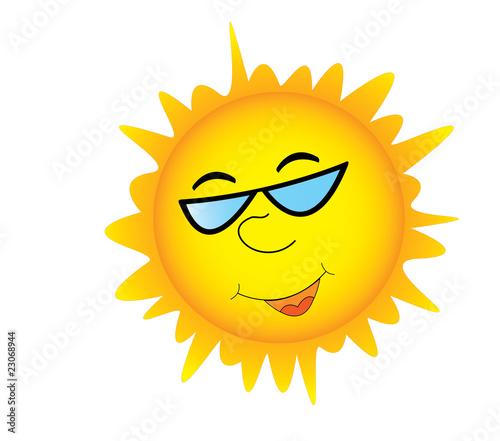 35de47fa31 Smiling sun in sunglasses - Buy this stock vector and explore ...