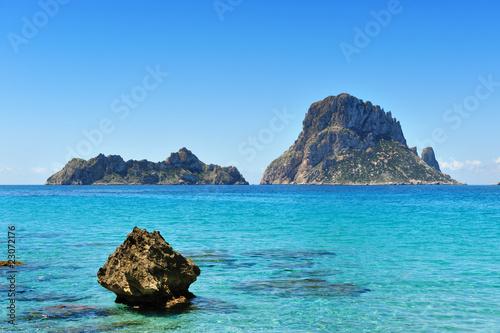 Fotografie, Obraz Es Vedra Cala d'Hort Ibiza Spain