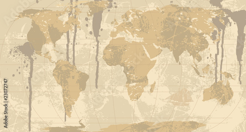 A Grunge Rustic World Map Buy This Stock Illustration And
