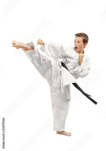 Spoed Foto op Canvas Vechtsport Martial arts boy