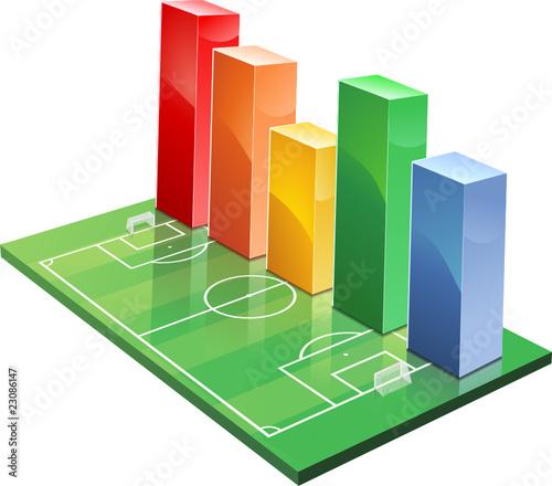 Statistiques sur le football (détouré) Wall mural