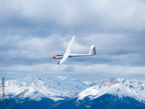 Glider in the air