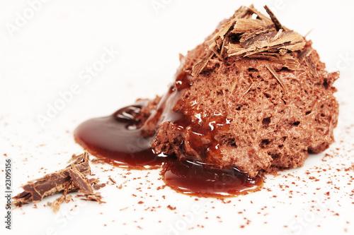 Photo Mousse au Chocolat mit Sirup