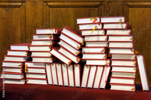 Photo  Hymnals and prayer books - stack