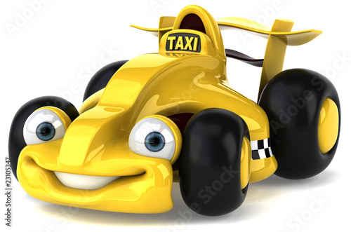 Keuken foto achterwand Cars Taxi