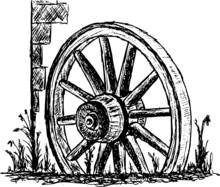 Vector - Ancient Wagon Wheel S...