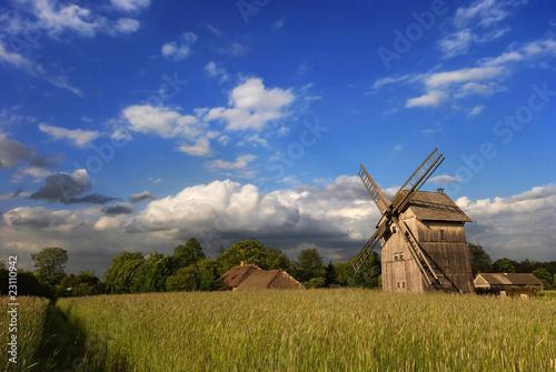 Aluminium Prints Mills windmill at sunset