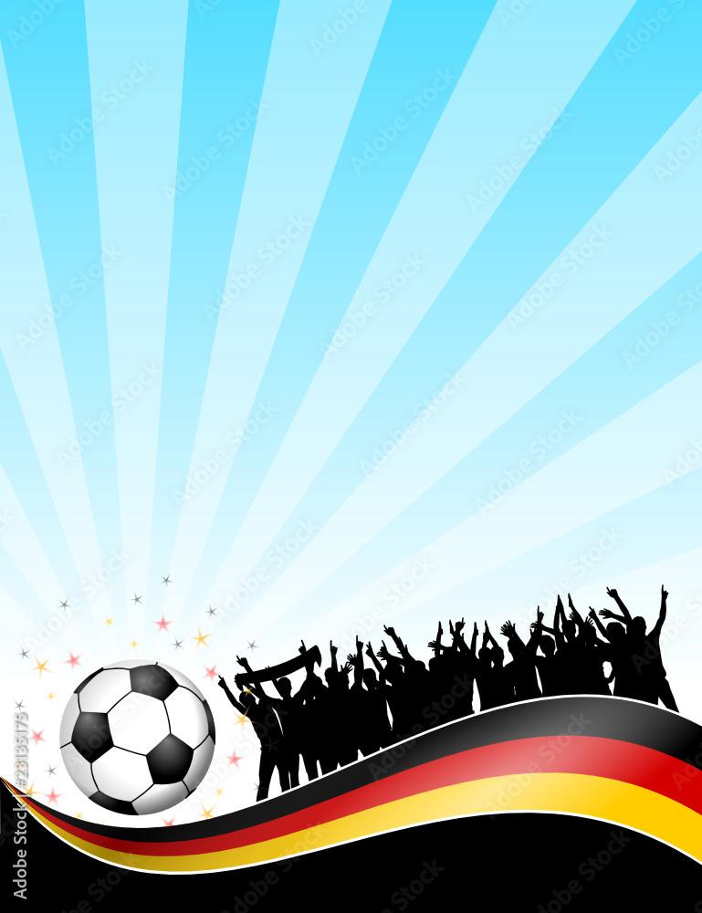 Photo Art Print Plakat Fussball Feld Deutschland X