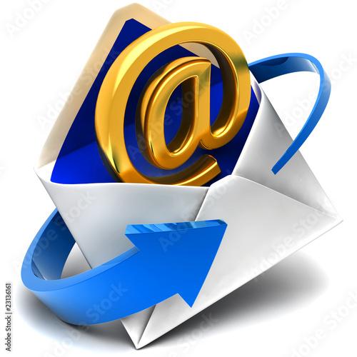 Fotografie, Obraz  Email sign & envelope