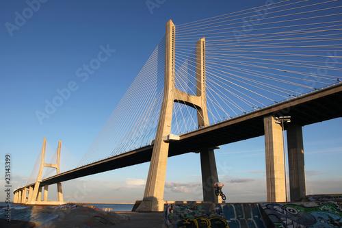 Fotomural Ponte Vasco da Gama in Lisboa (Portugal)