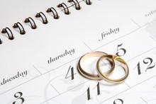 Couple Of Wedding Rings On Cal...