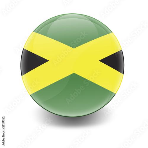 Esfera brillante con bandera Jamaica Canvas Print