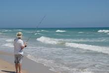 Surf Fisherman East Coast Of Florida